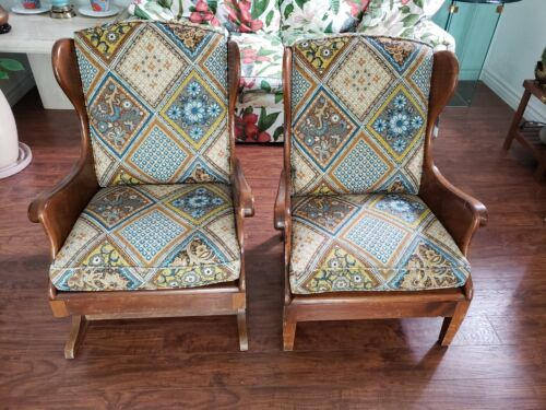 Pair of 1955 Mission Furniture Fine Arts of LA, CA Manufacturer Western Chairs