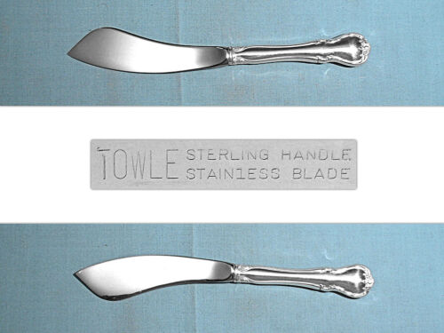 TOWLE STERLING HOLLOW HANDLE MASTER BUTTER KNIFE ~ FRENCH PROVINCIAL ~ NO MONO