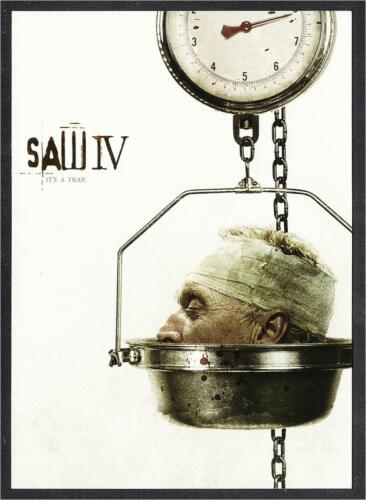 Postcard of Saw IV 2007 Horror Movie - Head In Scale - It's A Trap