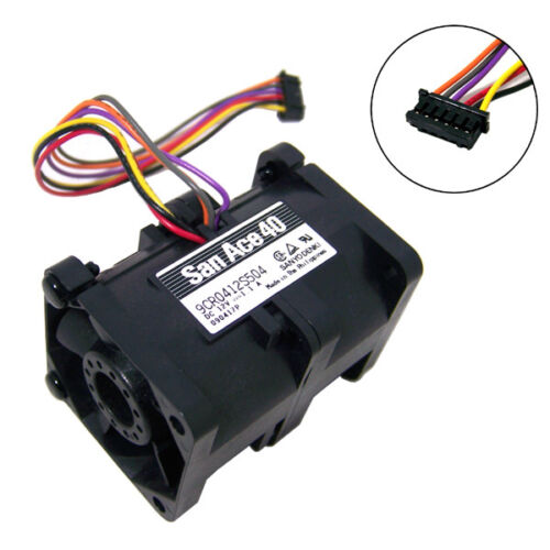 San Ace40 DC 12v 1.1a 6-Wire Dual Fan Assy 9CR0412S504 6-Pin Sanyodenki 030416P