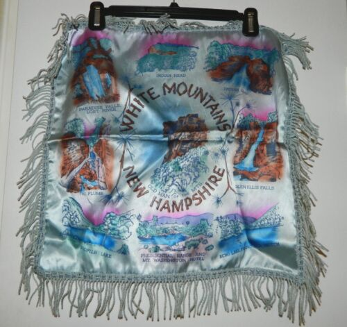 Vintage New Hampshire White Mountains Wall Hanging Satin Tapestry