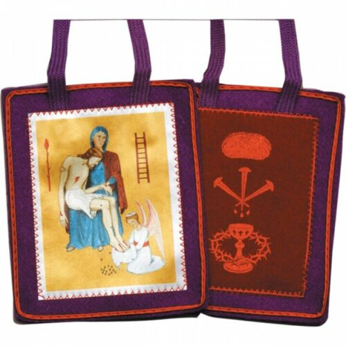 Purple Scapular of Benediction and Protection,( USA ) 100% Woven Wool/Wool Cord