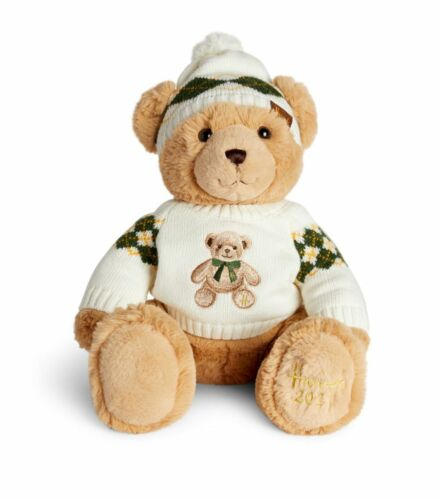 2021 HARRODS Christmas Angus (32cm) Teddy Bear. Brand New with Tags Attached