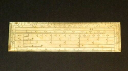 NICE EARLY 19TH CENTURY NAVAL OFFICER'S DISTANCE RULER WITH MAKER'S NAME