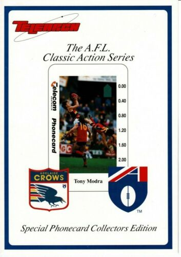Australia 1994 AFL Football Tony Modra Adelaide Crows phonecard collector pack