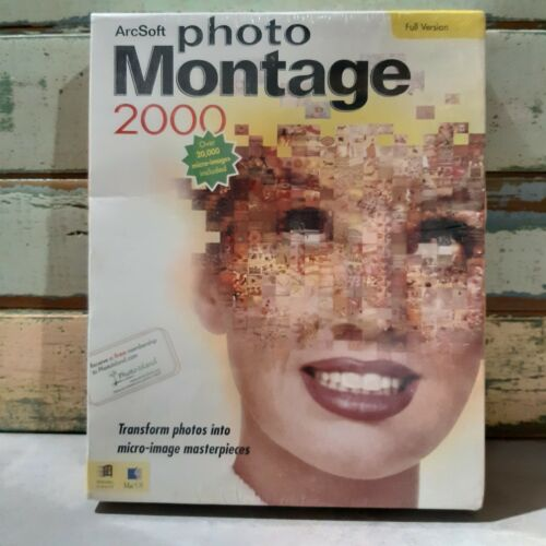 Photo Montage 2000 ArcSoft Software VINTAGE Collectable SEALED BOX
