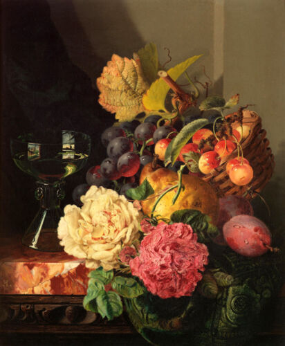 """Classical oil painting still life flowers Giclee Printed on canvas 16X20"""" L1717"""