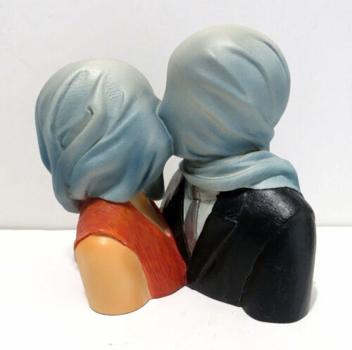 Rene Magritte Lovers with Covered Heads 1928 Resin Sculpture small