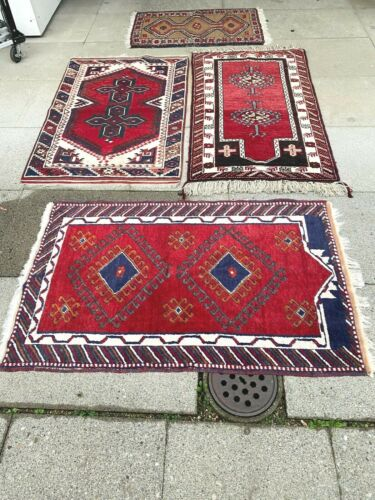 antico-swiss 4 Beautiful Antique BERGAMA rugs 2`7x4`3 and2`5x4`2 and2`7x4`1  ft