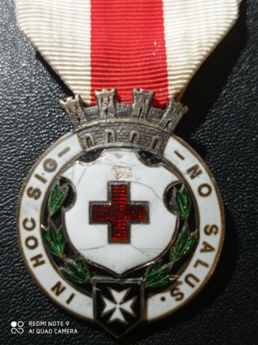 D14O) Rare médaille  croix rouge française IN HOC SIG NO SALUS french medal