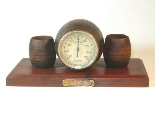 NICE ANTIQUE BAROMETER MADE FROM HMS VICTORY 1805 TIMBER