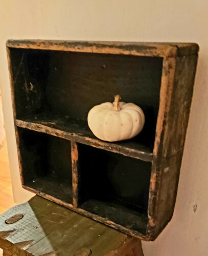 AWESOME ANTIQUE PRIMITIVE CUBBY CUPBOARD GREAT OLD PAINT AAFA NR