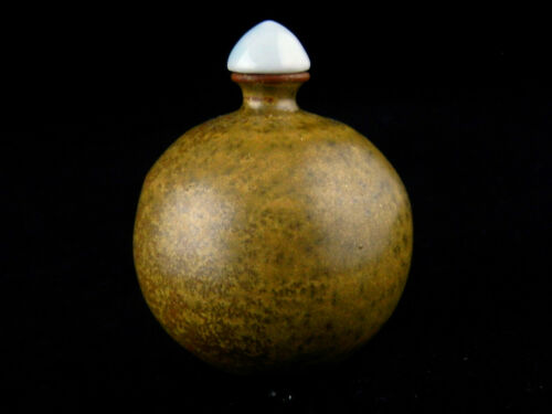Good Quality Chinese Brown Glaze Porcelain Snuff Bottle EE026