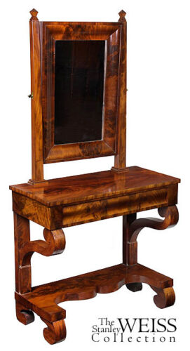 SWC-Rare Mahogany Neoclassical Dressing Table, c.1840