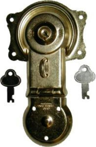 TRUNK REPAIR PARTS BRASS PLATED LOCK D3815