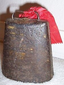 Antique Primitive Hand-Forged Metal RODEO COWBOY BULL COW BELL