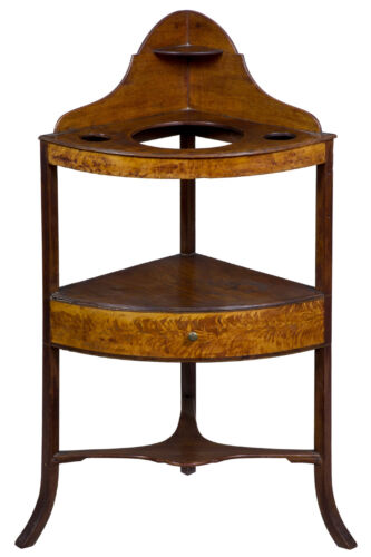 SWC-Federal Mahogany Birch Basin Stand, Boston, c.1800