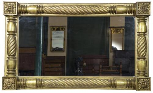 SWC-Monumental Neoclassical Gold Leaf Over-mantel Mirror, c.1840