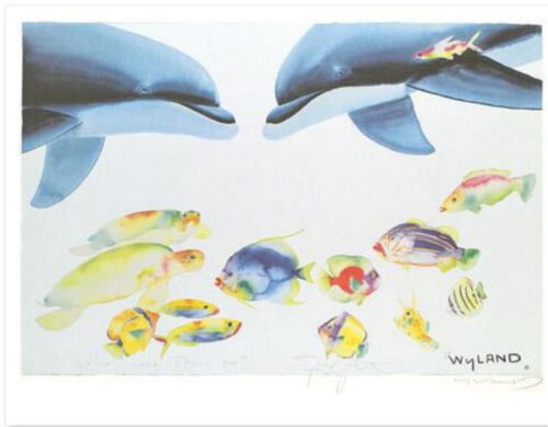 """WYLAND """"WHO INVITED THESE GUYS?""""  S/N LITHOGRAPH W COA"""