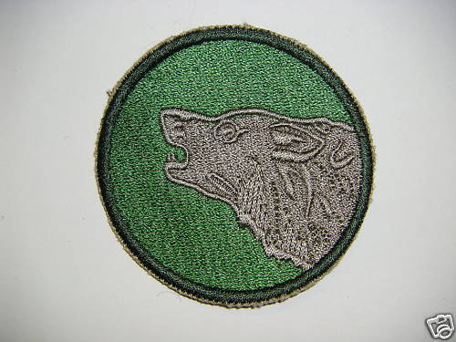b0206 Post  WW 2 US Army 104th Infantry Timberwolf Division PA9