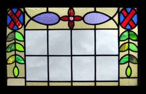 Fabulous Victorian Antique English Stained Glass Window