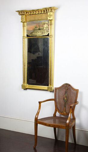 SWC-Large Gilt Federal Mirror, Mt. Vernon, c.1820