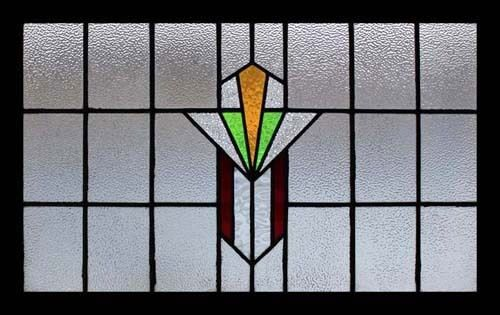 Spectacular English Art Deco Stained Glass Window