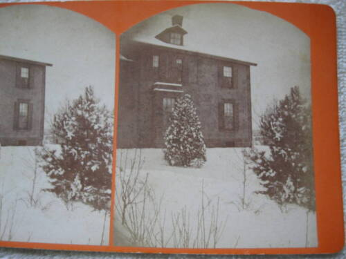 1800s NORTH ANDOVER HOME IN WINTER OVERSIZED STEREOVIEW