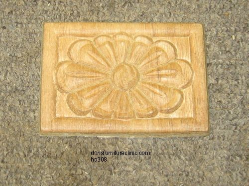 "WOOD EMBOSSED APPLIQUE 4 1/4"" X 3""  HQ1216"