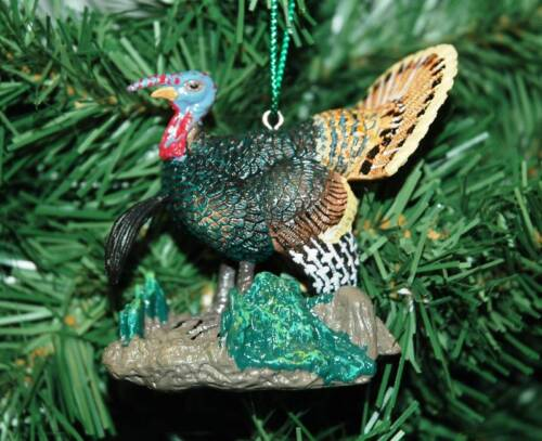 Wild Turkey Gobbler With Beard Christmas Ornament