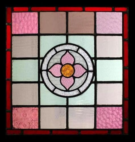 Stained  Glass Window English Antique Victorian FREE Worldwide Insured Shipping
