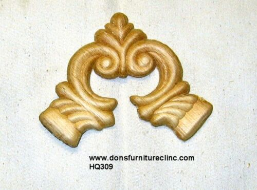 """WOOD EMBOSSED APPLIQUE 3 1/8""""H X 3 7/8""""W         HQ309"""