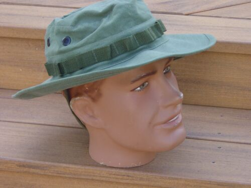 Boonie Hat Med Vietnam Repro Replica Rip Stop OD Army Military USMC with P38Marine Corps - 66531
