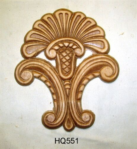 "WOOD EMBOSSED APPLIQUE 7 1/2"" X 6 1/2""  HQ551"