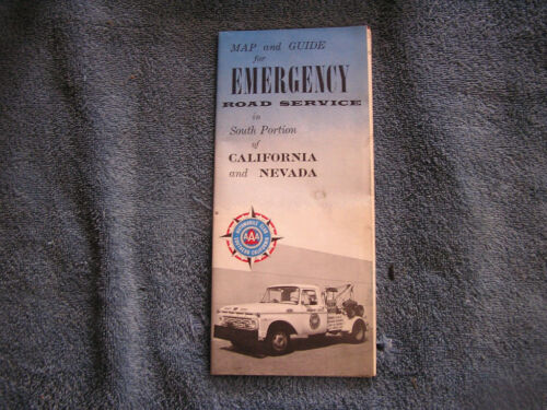 Vintage AAA Emergency Service Map CA NV Ford Tow Truck