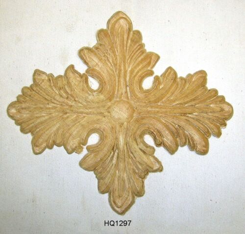 "WOOD EMBOSSED APPLIQUE 6 3/4""X 7 1/2"" EACH  HQ1297"