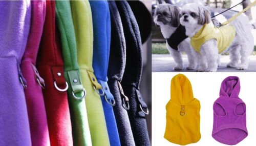 Gooby Fleece Vest HOODY Harness All Colors Sizes, Easy, Soft Dog Hoodie Sweater