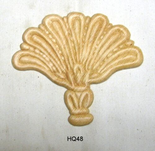 "WOOD EMBOSSED APPLIQUE 6"" X 5 1/8""        HQ48"
