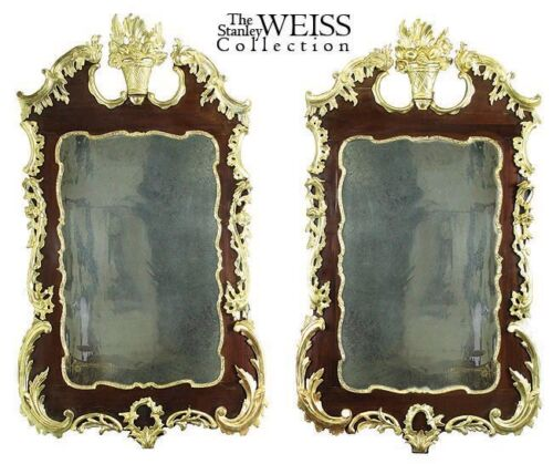 SWC-Pair of Rare Gilt Chippendale Looking Glasses, c. 1760/1780