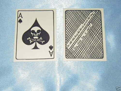 TW0( 2) EACH VIETNAM WAR ACE OF SPADES DEATH CARD  ONLY $ 5.00 SAME DAY SHIPPINGDocuments - 36064