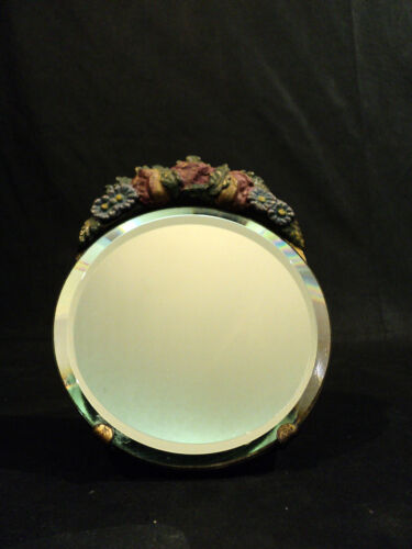 "VINTAGE 1930's ENGLISH COUNTRY CABBAGE ROSE ""BARBOLA"" DRESSING TABLE MIRROR"