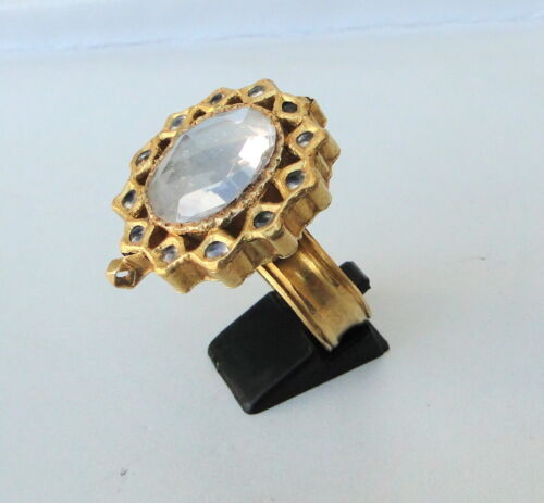 RARE!! VINTAGE ANTIQUE 20 CARAT GOLD FINGER RING RAJASTHAN INDIA