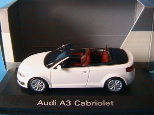 AUDI A3 2.0T 2009 CABRIOLET IBISWEISS MINICHAMPS 5010803313 1/43 BLANC WHITE
