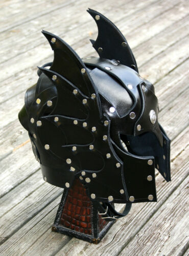 Hawk Faced Leather Helmet Fantasy Armor SCA LARP Helm medieval armour knightReenactment & Reproductions - 156374