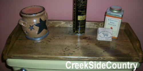 PRIMITIVE Wood Toilet Tank Cover Top Tray - stained and distressed -------
