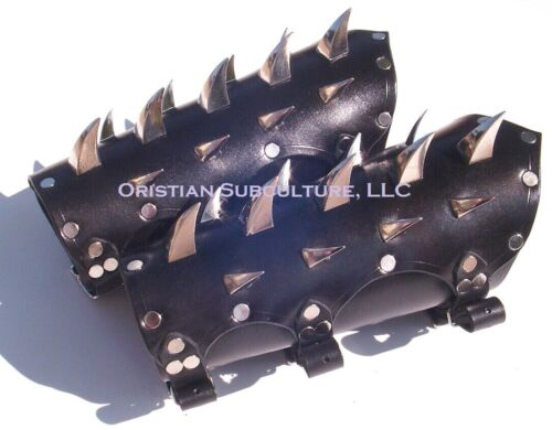 Leather Dragon Claw Spiked Bracers Arm Armor SCA LARP fantasy armour death rockReenactment & Reproductions - 156374