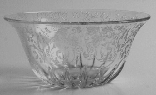 Crystal NEW MARTINSVILLE  Florentine (With Gold Etch) Mayonnaise Bowl