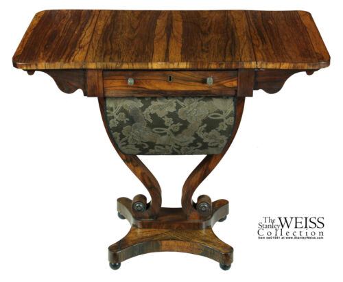 SWC-A Classical/Regency Rosewood Worktable, c.1810-30