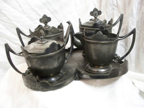 Antique Pewter Coffee or Tea Set