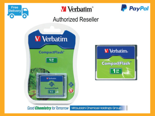($0 P & H) Verbatim CF Card Compact Flash Card 1gb ideal Camera memory P/N 47010